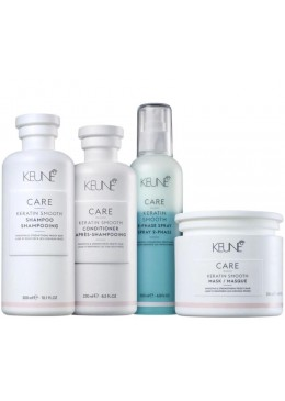 Care Keratin Smooth Strenghtening Frizzy Hair Treatment Kit 4 Products - Keune Beautecombeleza.com