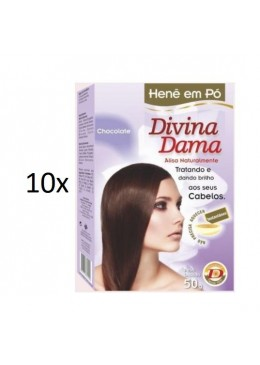 Lot of 10 Henê Brown Chocolate Powder Henna Straightening 50g - Divina Dama Beautecombeleza.com