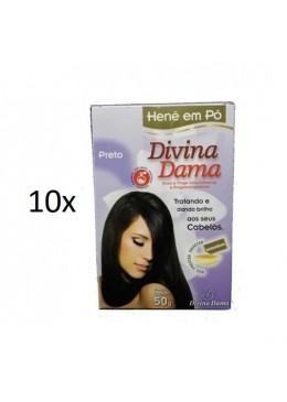 Lot of 10 Henê Black Powder Henna Straightening Dyeing 50g - Divina Dama Beautecombeleza.com