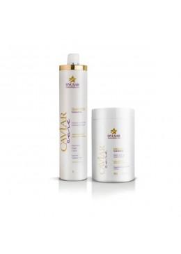 Moiturizing Caviar Care Keratin Argan Home Care Maintenance Kit 2x1 - Dyusar Beautecombeleza.com