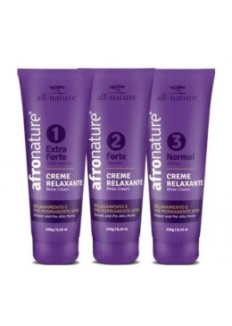 Professional Relaxer Pre Afro Perm Cystine Restructuring Kit 3x250g - All Nature Beautecombeleza.com