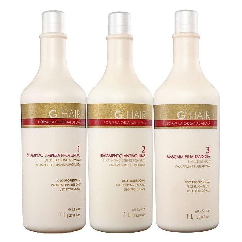 INOAR G HAIR Progressive brush keratin german formul traitement KIT 34 oz (1000ml) / x 12 kits: 1279 euros